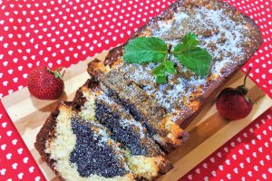 Desert poppy seed coconut bread